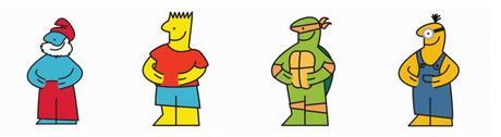Les mashups réalisés en mixant la mascotte Ikéa et des icônes pop comme les Schtroumpfs, les Simpsons, les Tortues Ninja et les Minions