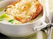 Soupe poireaux gratinée four