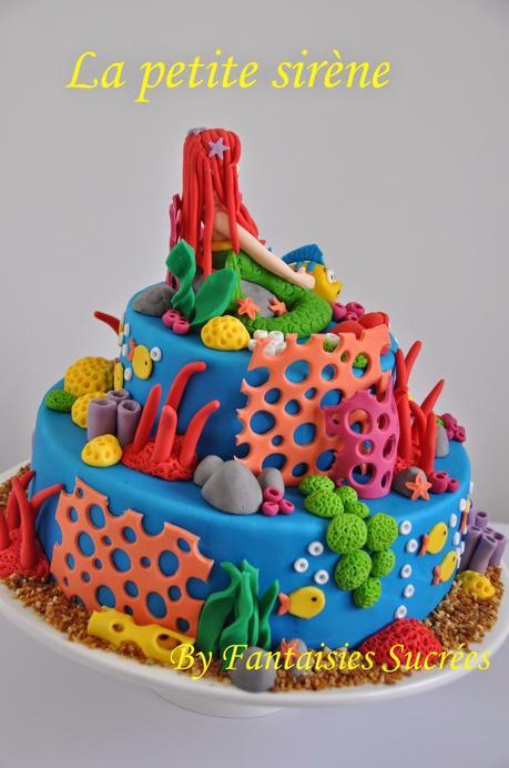 G teau anniversaire 3d disney la petite sir ne birthday cake paperblog - Gateau anniversaire disney ...
