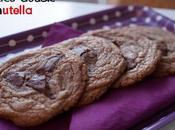 Cookies double Nutella® {avec Nutella dans pâte avec chunks Nutella}