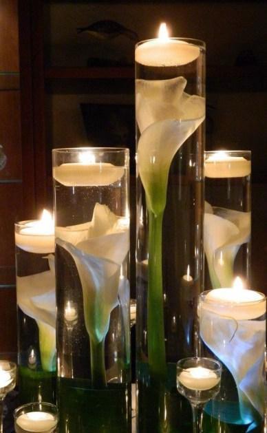 bougies de mariage flottantes grande taille une bougie plusieurs centres de table paperblog. Black Bedroom Furniture Sets. Home Design Ideas