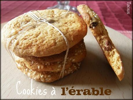 Cookies ou biscuits au sucre d'érable