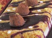 Bûche chocolat blanc truffes