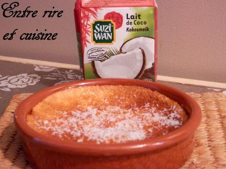 Recette autour d'un ingrédient # 3 - Flans Pomme - Lait de coco