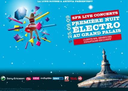 [SOIREE MOBILE] La nuit Electro SFR au Grand Palais !!!
