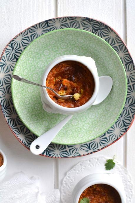 Clafoutis carotte ~ coco ~ pavot { Idée apéritive }