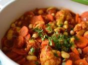 Ragoût légumes épices douces, pois chiches noix cajou