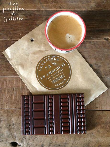 La nouvelle tablette de chocolat noir, Venezuela 75% de cacao d'Alain Ducasse