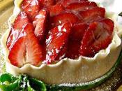 Coeur fraises pâte d'amande pour vous souhaiter joyeuse Saint Valentin