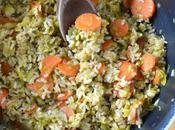 pilaf légumes {poireaux-carottes}