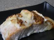 Pavé saumon fromage chèvre moutarde l'ancienne