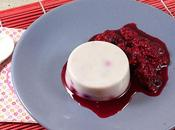 Panna cotta chocolat blanc fruits rouges lait végétal riz)
