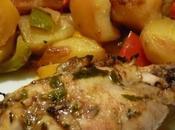 Pilons poulet épices poêlée légumes