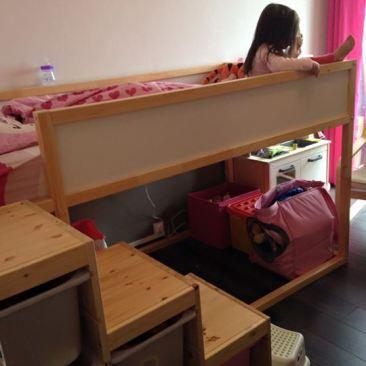 1 chambre pour 2 enfants la chambre de nos filles lire for Lit kura occasion