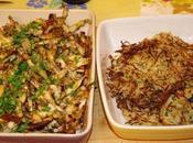 Cuisses grenouilles, râpes pommes terre maison salade pissenlits