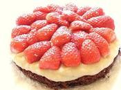 Tarte fraises sans cuisson basilic