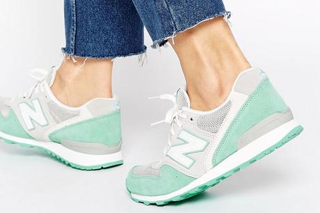 New Balance 996 Vert et gris pastel