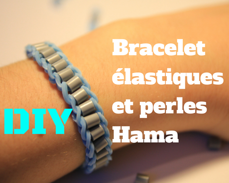 diy comment faire un bracelet avec des lastiques rainbow loom et des perles hama paperblog. Black Bedroom Furniture Sets. Home Design Ideas