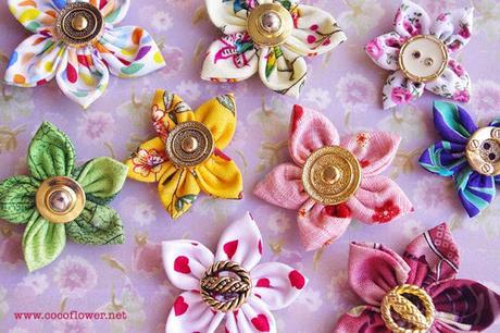 diy comment r aliser facilement des petites fleurs en tissu tuto printanier d couvrir. Black Bedroom Furniture Sets. Home Design Ideas