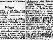 dialogue marxistes-catholiques? Deux conférences Garaudy vues presse 1965