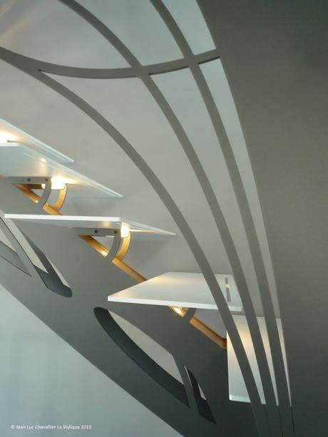 escalier design double quart tournant chic et tendance paperblog. Black Bedroom Furniture Sets. Home Design Ideas