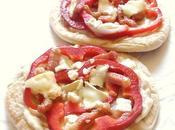 Pizza pita poivron lardons chèvre