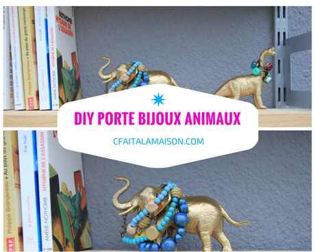 diy porte bijoux avec des animaux en plastique d couvrir. Black Bedroom Furniture Sets. Home Design Ideas