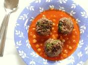 Soupe pois chiches keftas