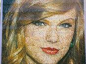 portrait Taylor Swift constitué briques LEGO