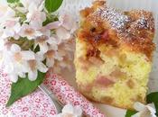 Gâteau Moelleux Rhubarbe