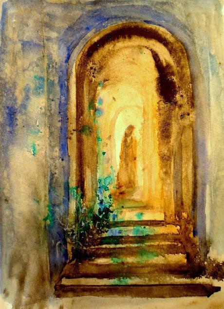 Le passage - aquarelle Ghislaine Segal