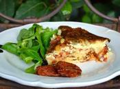 Clafoutis tomates séchées pignons parmesan