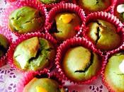 Muffins pistache cœur fruits rouges confits