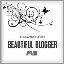 The beautiful blogger award tag!