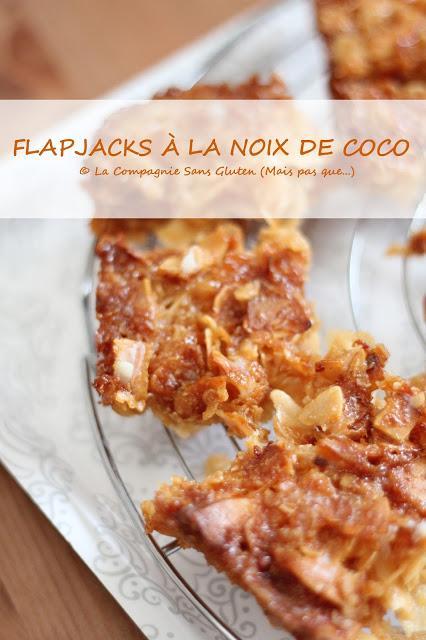 Flapjacks à la noix de coco (sans gluten, sans lait, sans oeufs)