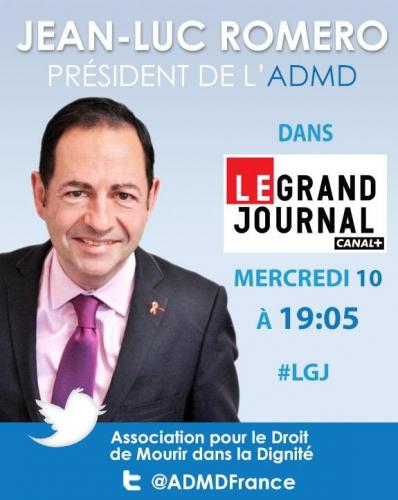 Invité du Grand Journal de Canal Plus à 19h00