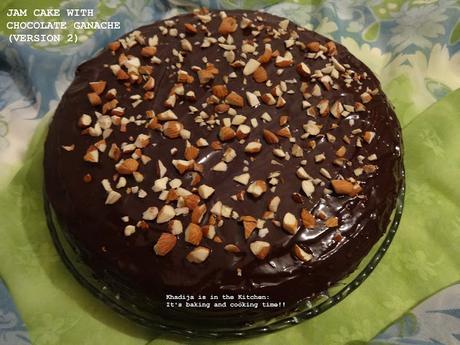 GÂTEAU À LA CONFITURE AVEC GANACHE DE CHOCOLAT / JAM CAKE WITH CHOCOLATE GANACHE / PASTEL DE MERMELADA CON GANACHE DE CHOCOLATE (VERSION 2)