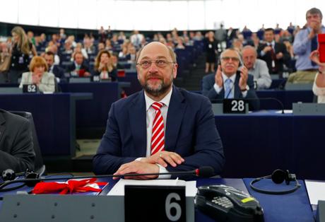 Martin Schulz le 1er juillet à Strasbourg, après sa réélection à la présidence du Parlement. © Reuters.