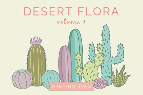 6 packs de graphiques succulentes et cactus
