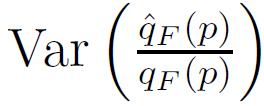 variance estimator Value at risk