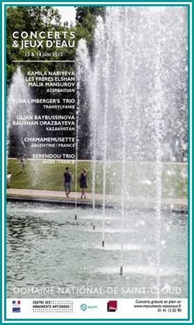 Ouvrez vos agendas ! Concerts et Jeux d'eau les 13/06 et 14/06 au Domaine national de Saint-Cloud - Entrée libre