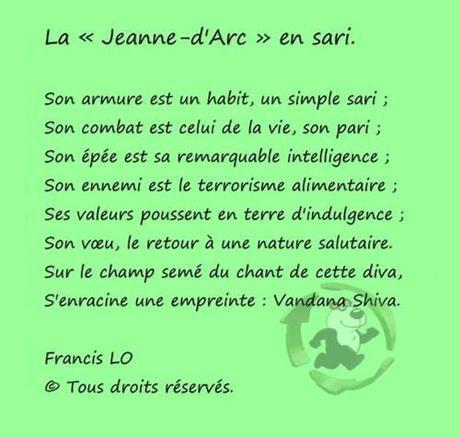 La Jeanne-d'Arc en sari