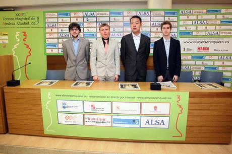 Ciudad de León : Maxime Vachier-Lagrave, Ruslan Ponomariov, Wey Yi et David Anton