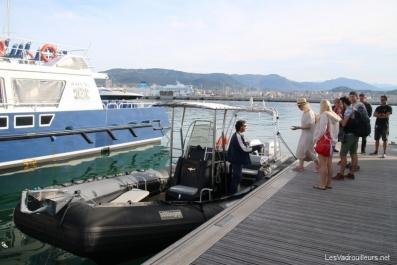 Embarquement sur le bateau
