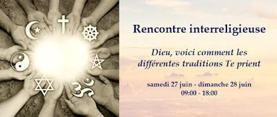 Une rencontre interreligieuse sur la prière du 26 au 28 juin près de Paris