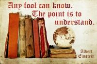any, fool, n'importe quel, idiot, peut savoir, can know, the point, l'important, understand, comprendre, einstein, albert, quote, citation, pinterest