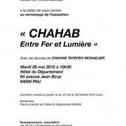 Exposition «Entre fer et lumière» Chahab à l'hôtel du département de Pau