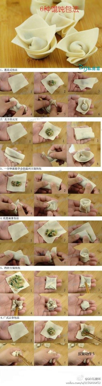 Won ton aux châtaignes d'eau 猪肉荸荠馄饨 zhūròu bíqi húntun