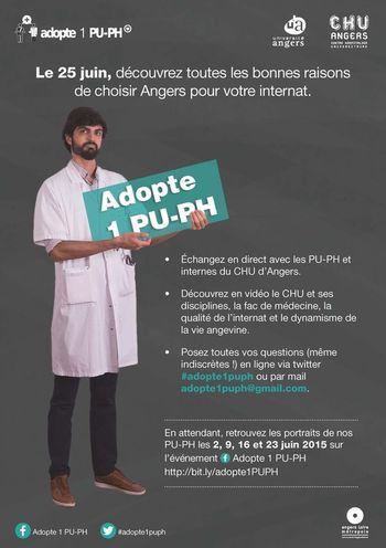 ÉTUDIANTS de MÉDECINE: «Adopte un PU-PH», la nouvelle campagne virale – CHU Angers