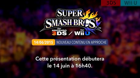 [E3'2015] Présentation de nouveaux contenus pour Smash Bros. à 16h40 !